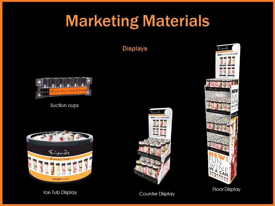 Marketing Materials Displays Suction cups Floor Display