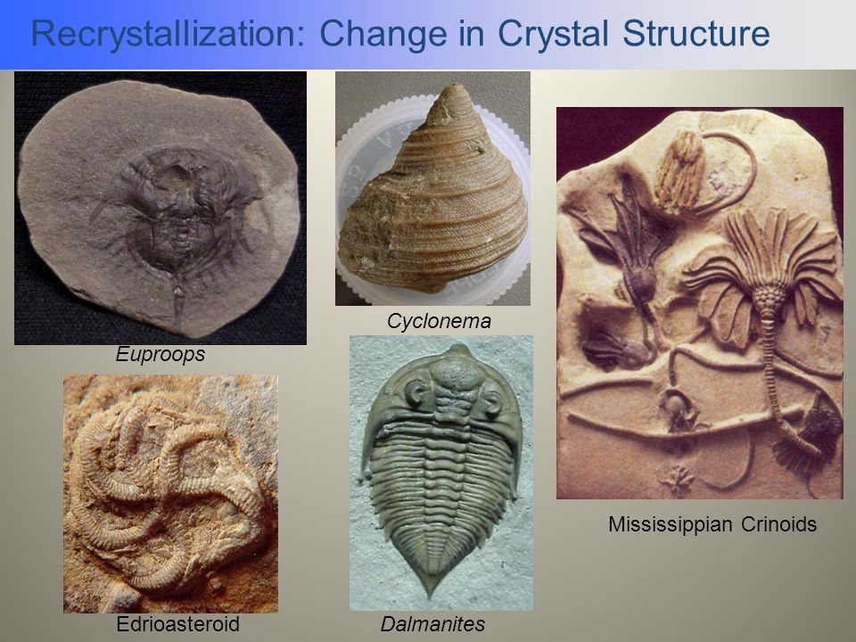 Recrystallization: Change in Crystal Structure