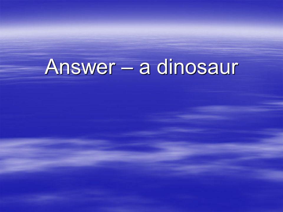 Answer – a dinosaur