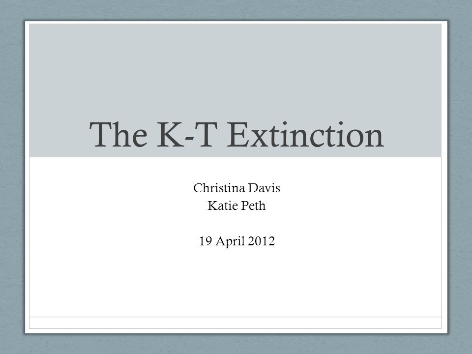 Christina Davis Katie Peth 19 April 2012