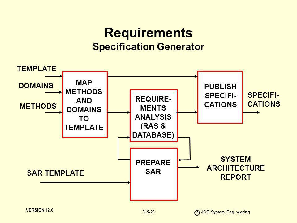 Requirements Specification Generator