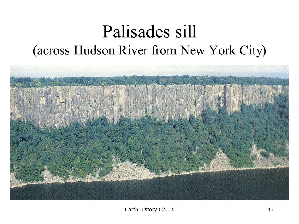 Palisades sill (across Hudson River from New York City)