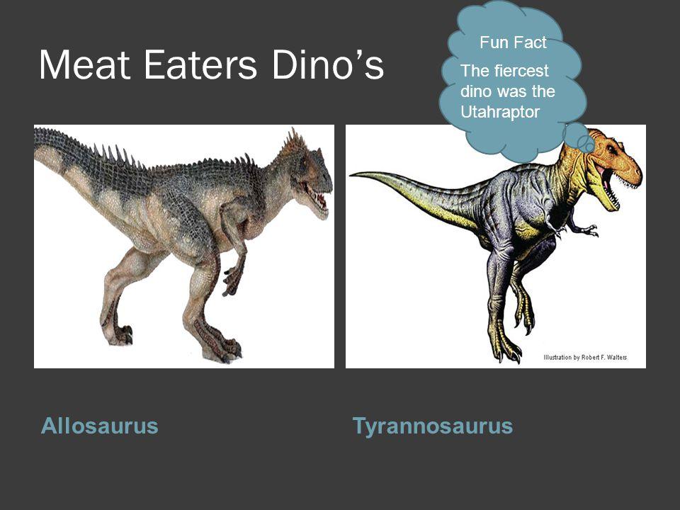 Meat Eaters Dino's Allosaurus Tyrannosaurus Fun Fact