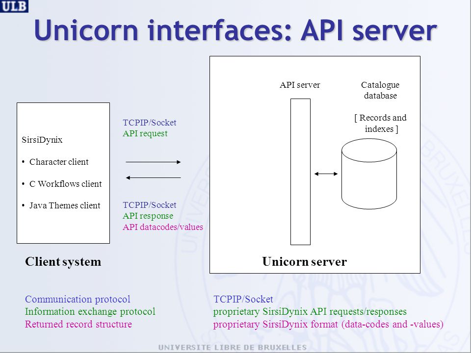 Unicorn interfaces: API server