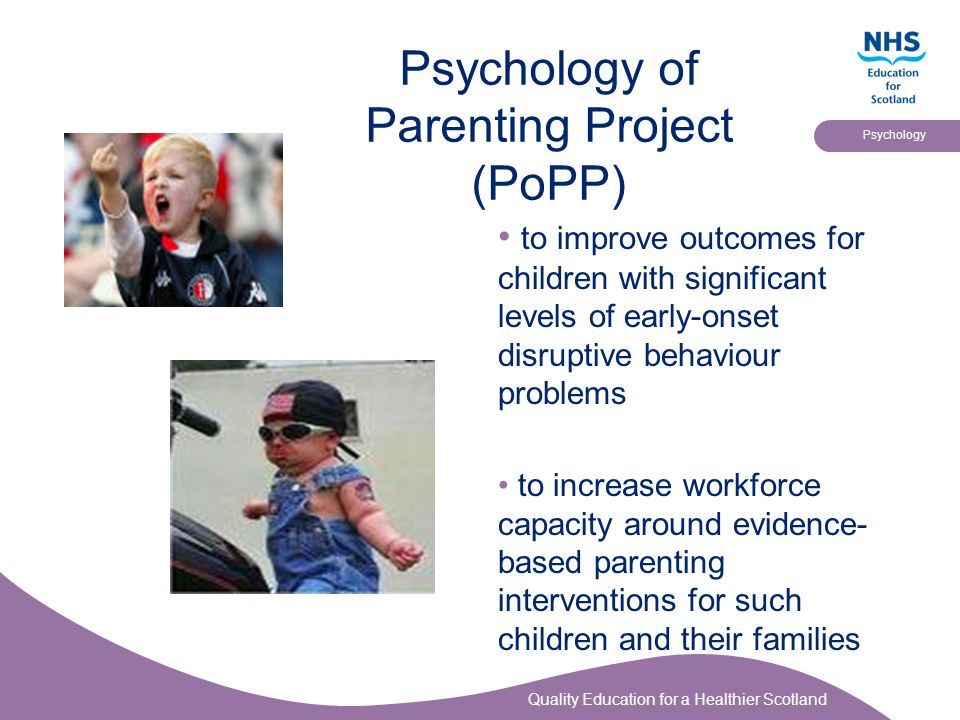 Psychology of Parenting Project (PoPP)
