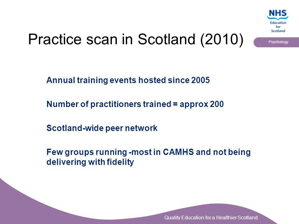 Practice scan in Scotland (2010)