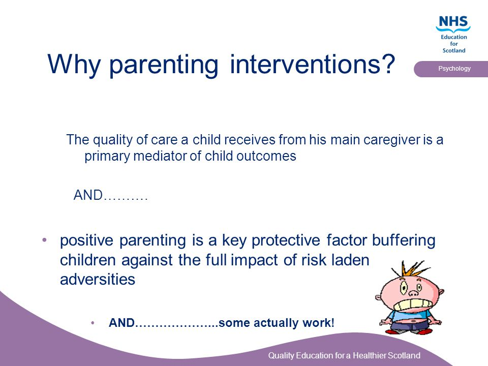 Why parenting interventions