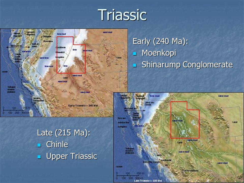 Triassic Early (240 Ma): Moenkopi Shinarump Conglomerate