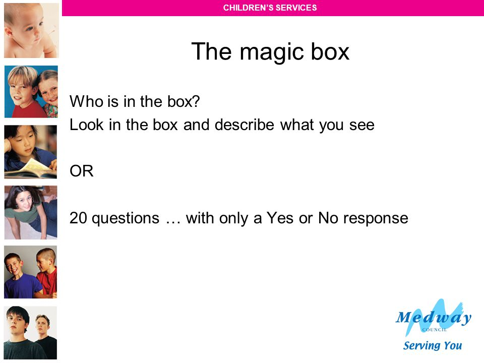 The magic box Who is in the box