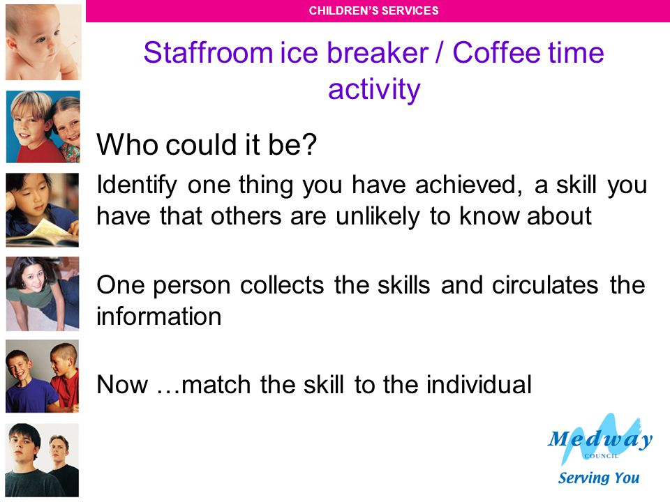 Staffroom ice breaker / Coffee time activity