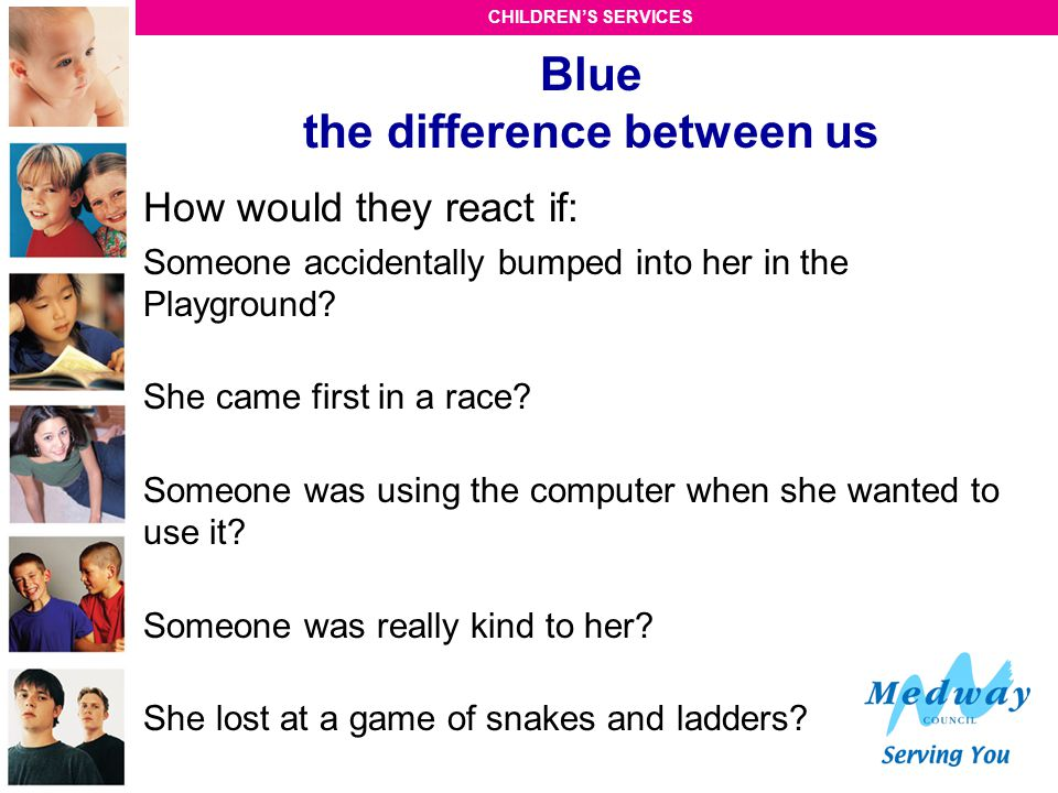 Blue the difference between us