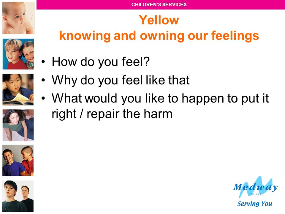Yellow knowing and owning our feelings