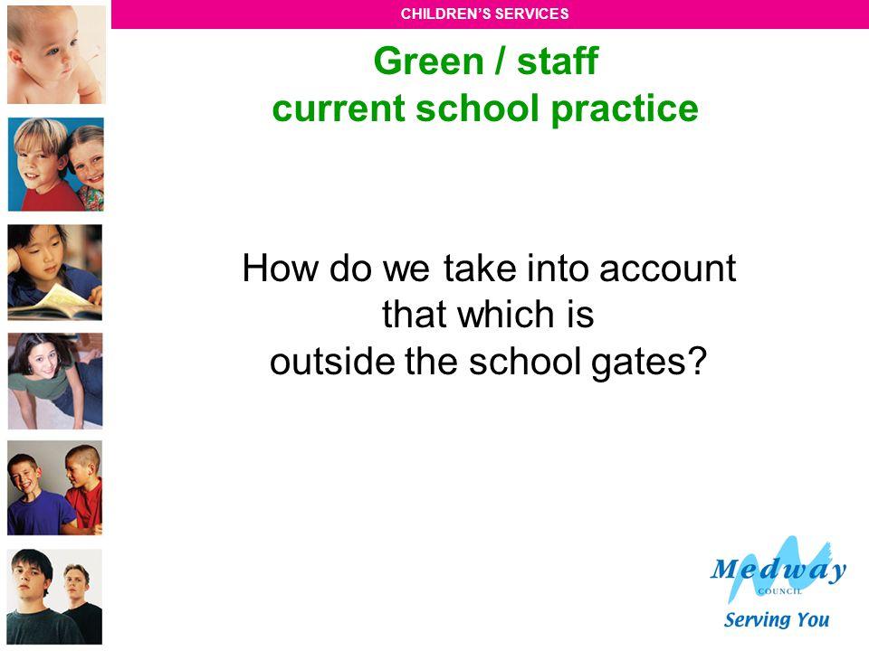 Green / staff current school practice