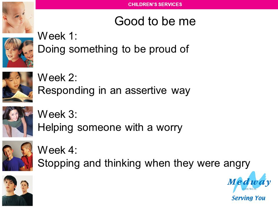 Good to be me Week 1: Doing something to be proud of