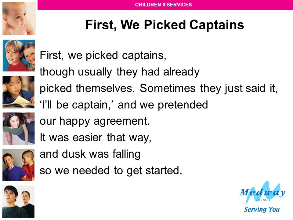 First, We Picked Captains