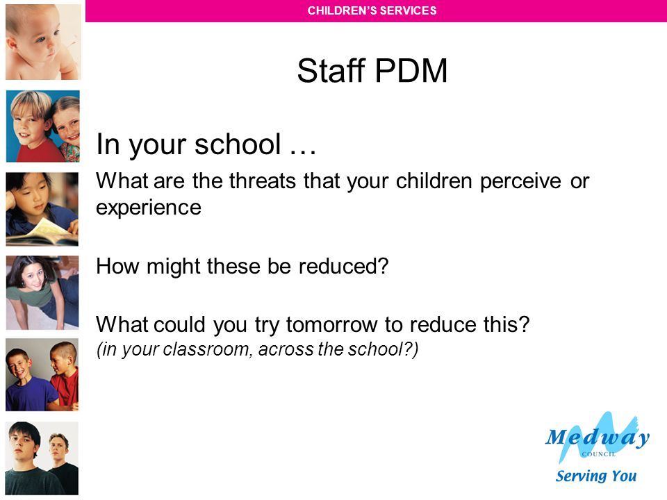 Staff PDM In your school …