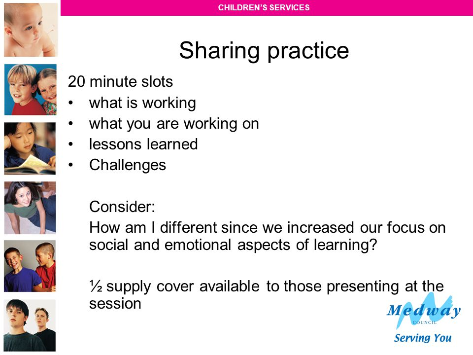 Sharing practice 20 minute slots what is working