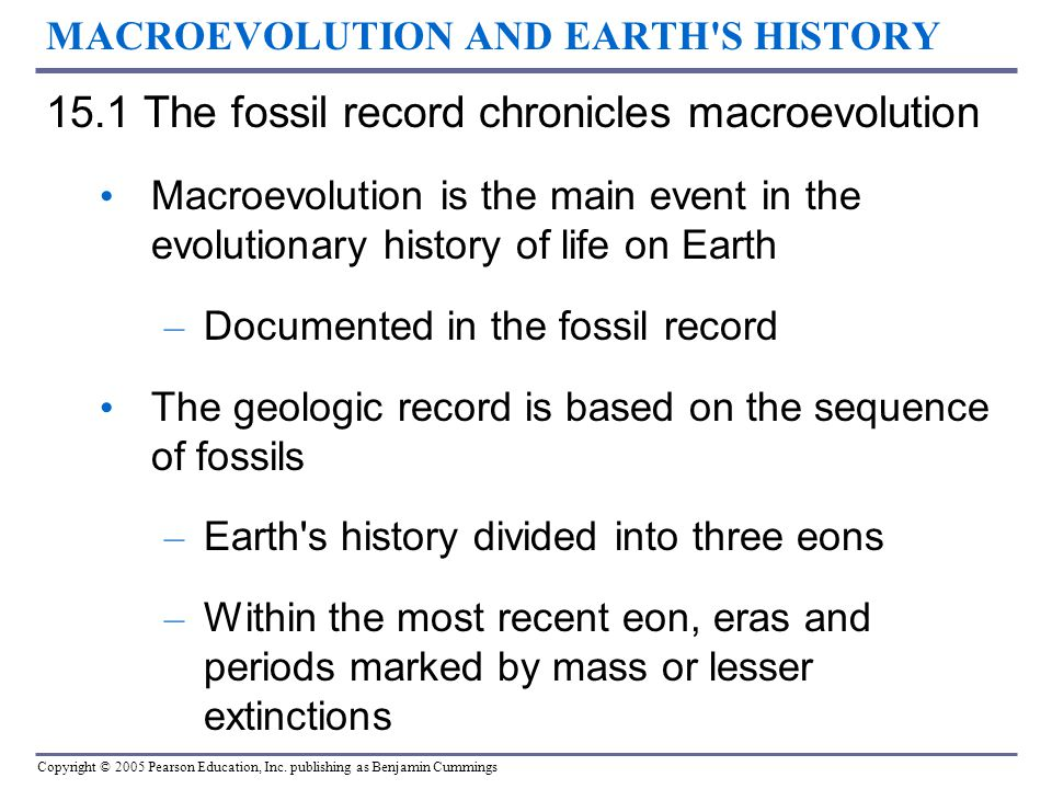 MACROEVOLUTION AND EARTH S HISTORY
