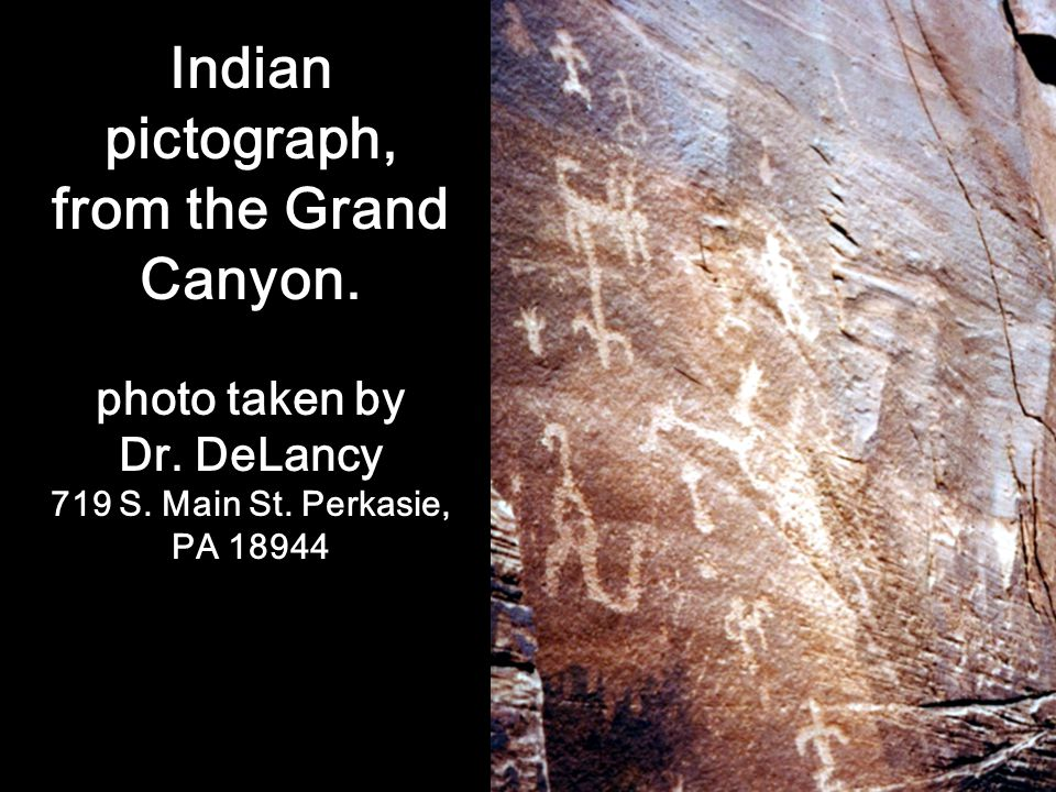 Indian pictograph, from the Grand Canyon.
