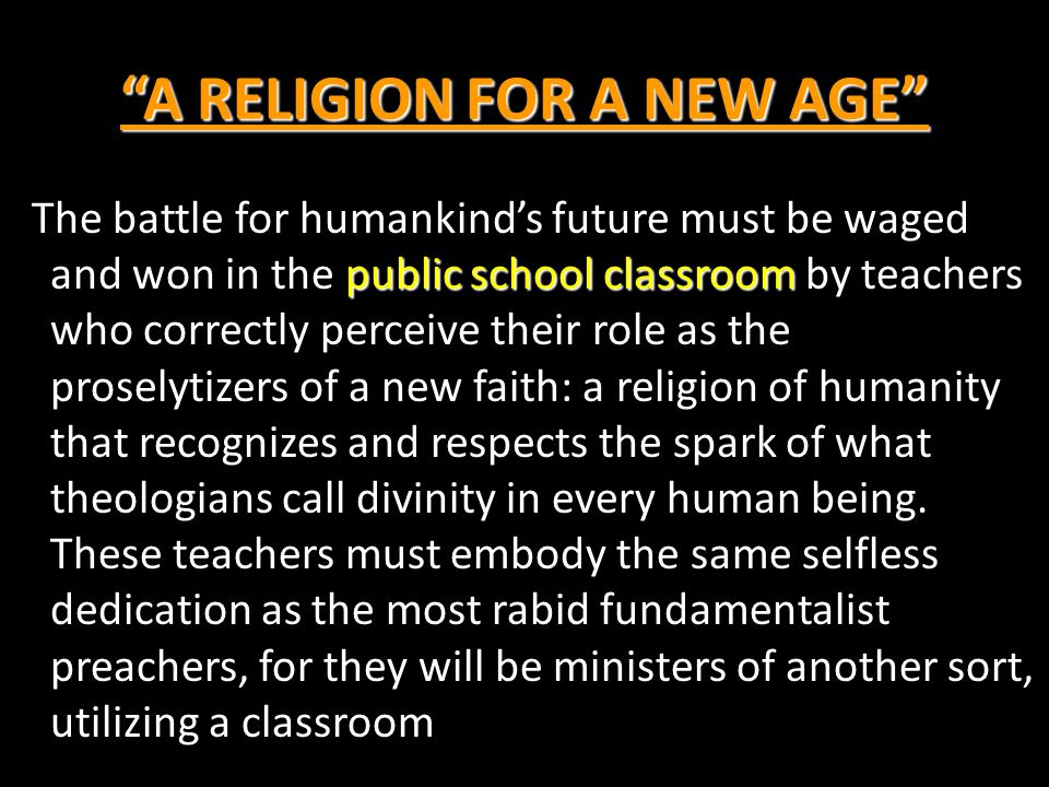 A RELIGION FOR A NEW AGE