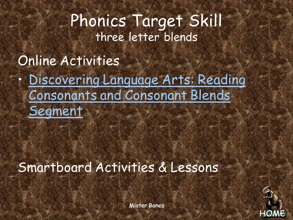 Phonics Target Skill three letter blends