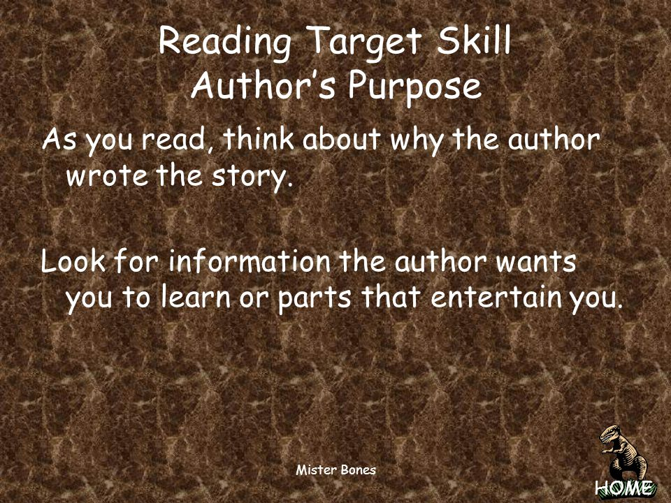 Reading Target Skill Author's Purpose