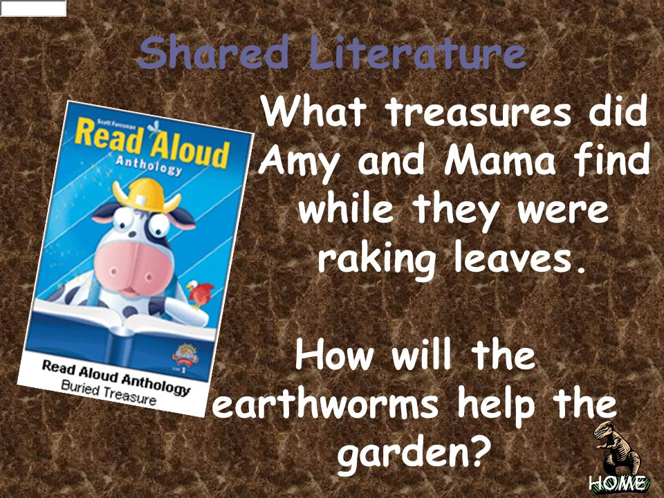 Shared Literature What treasures did Amy and Mama find while they were raking leaves.