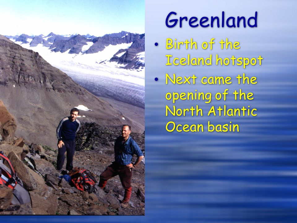 Greenland Birth of the Iceland hotspot