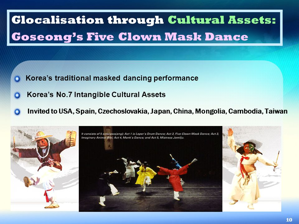 Glocalisation through Cultural Assets: Goseong's Five Clown Mask Dance