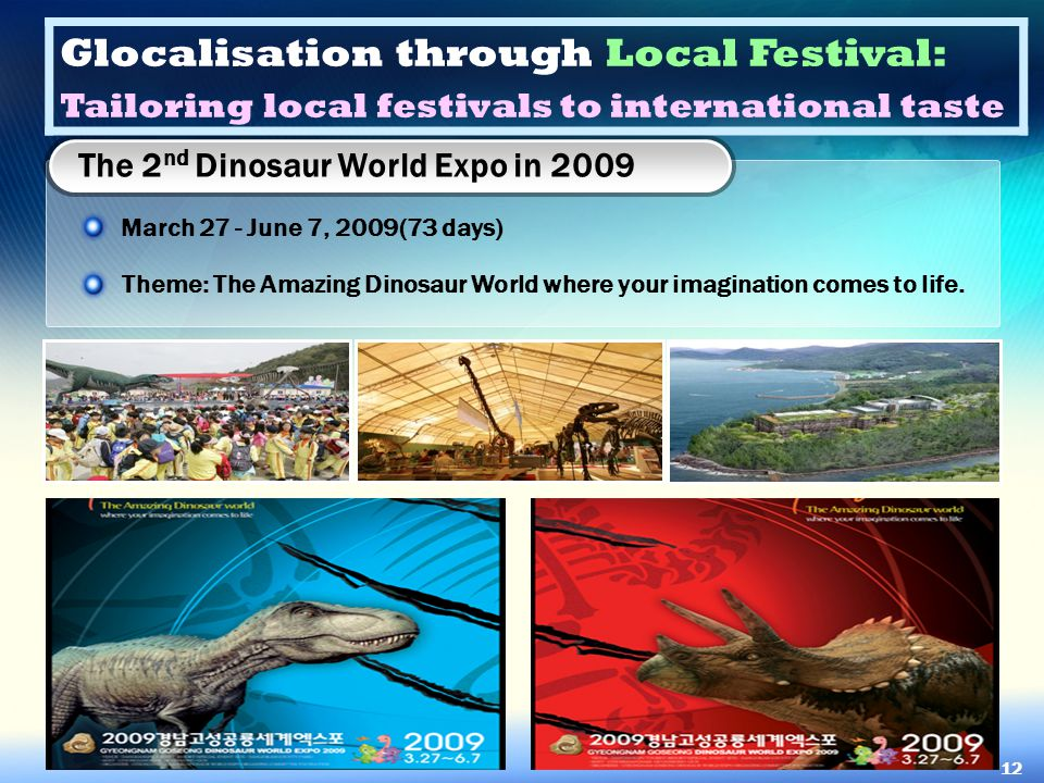 The 2nd Dinosaur World Expo in 2009
