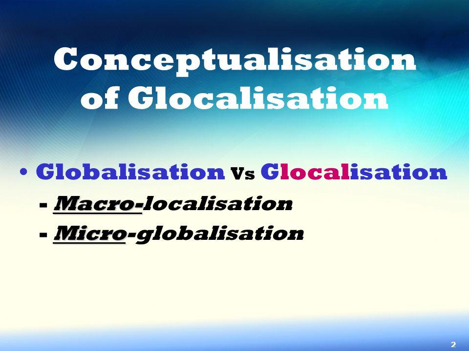 Conceptualisation of Glocalisation