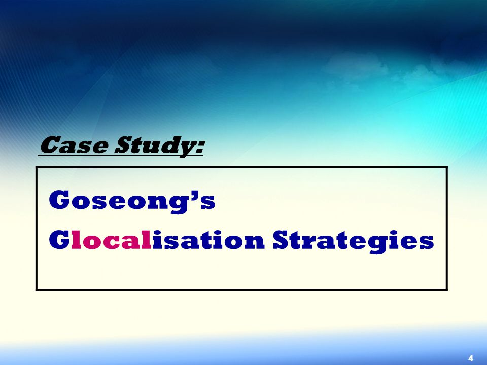 Glocalisation Strategies
