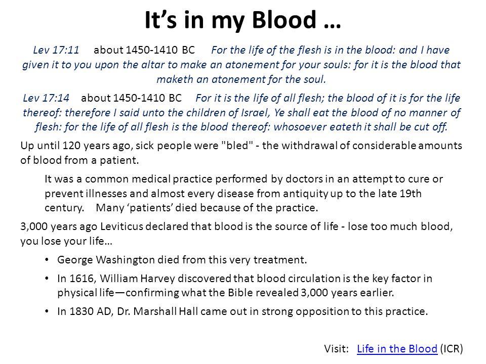 It's in my Blood …