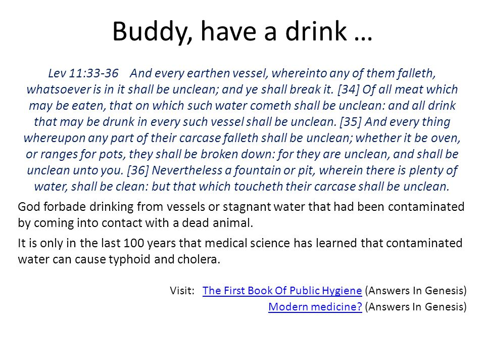 Buddy, have a drink …