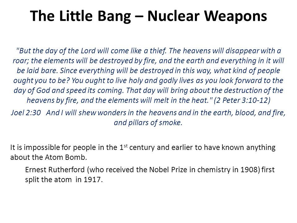 The Little Bang – Nuclear Weapons