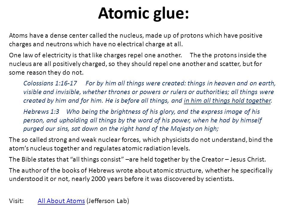 Atomic glue: