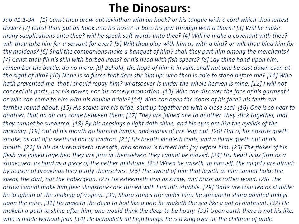 The Dinosaurs: