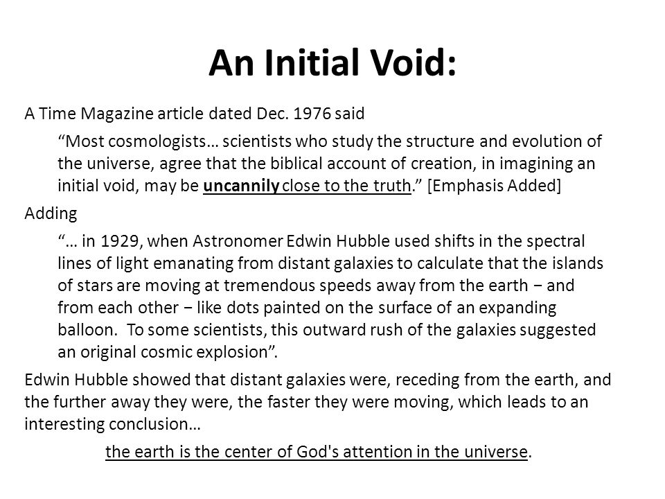 the earth is the center of God s attention in the universe.