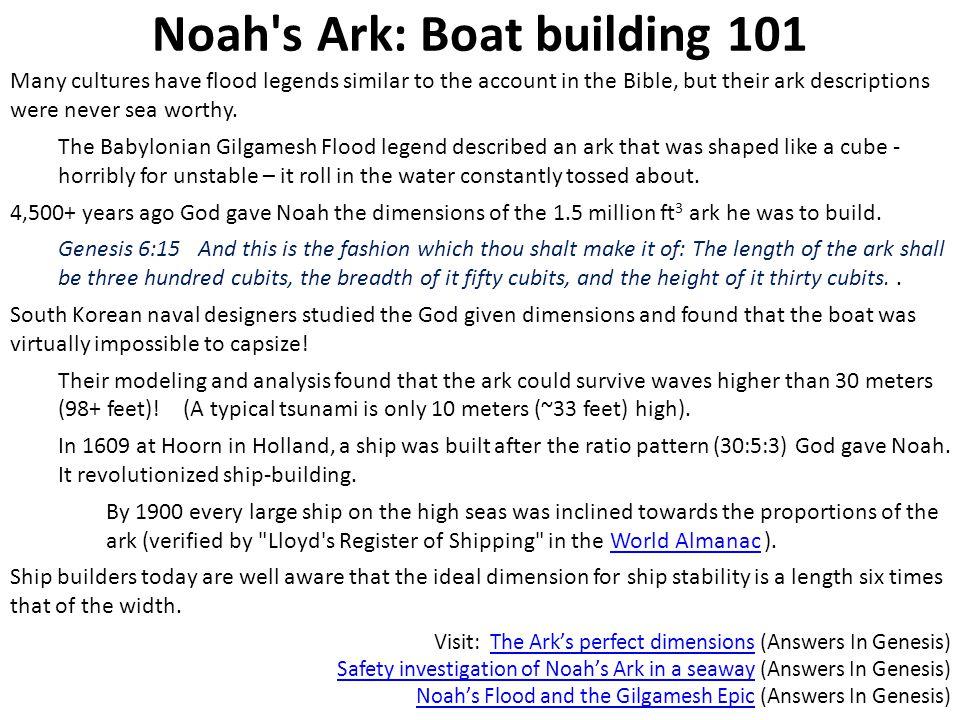 Noah s Ark: Boat building 101