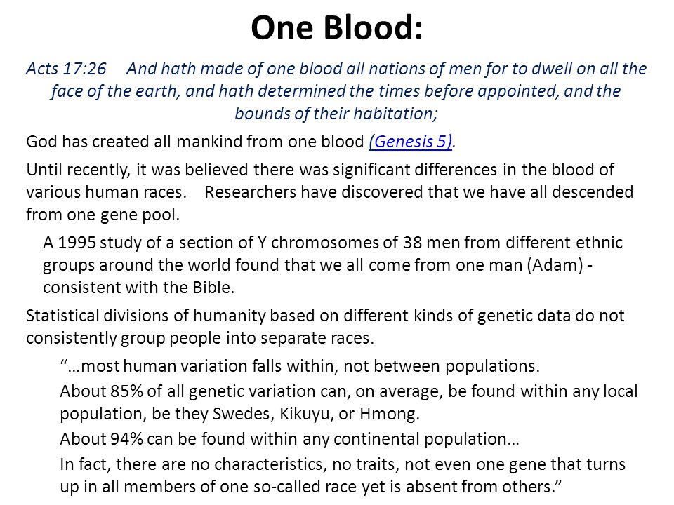 One Blood: