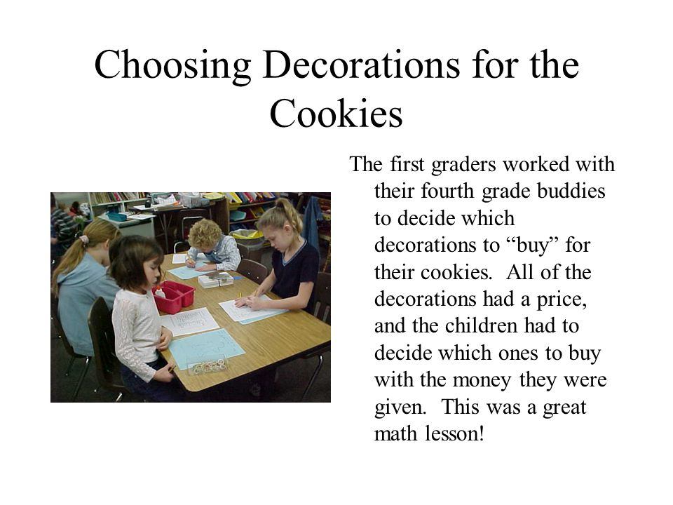 Choosing Decorations for the Cookies