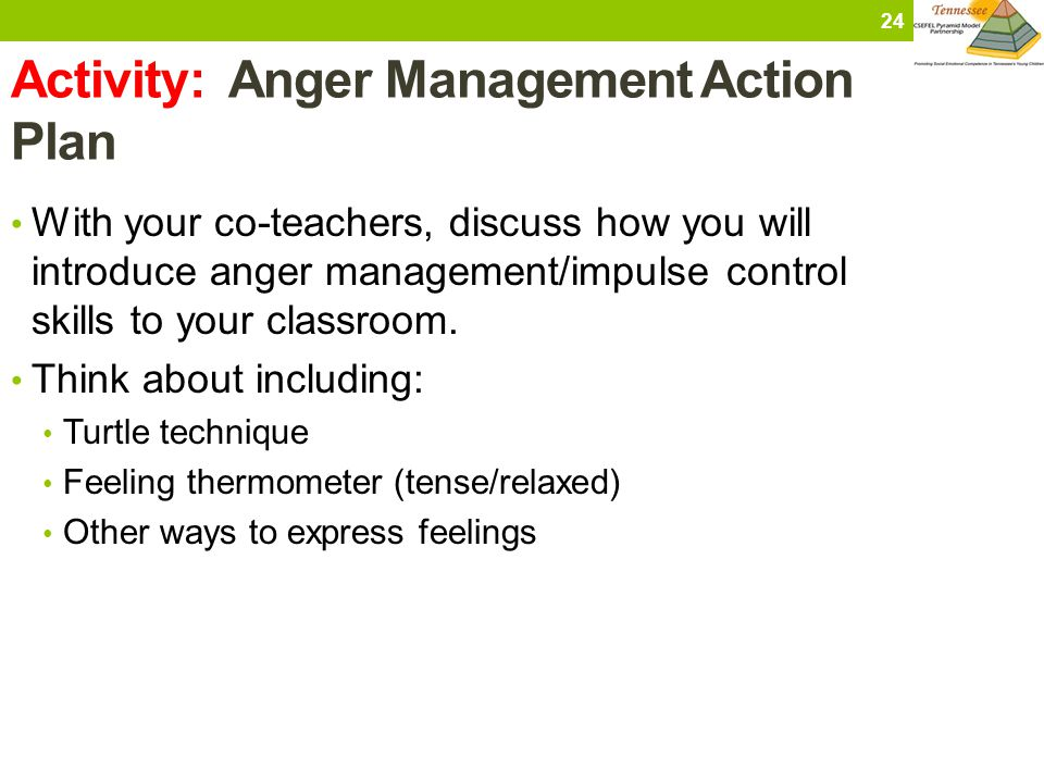 Activity: Anger Management Action Plan