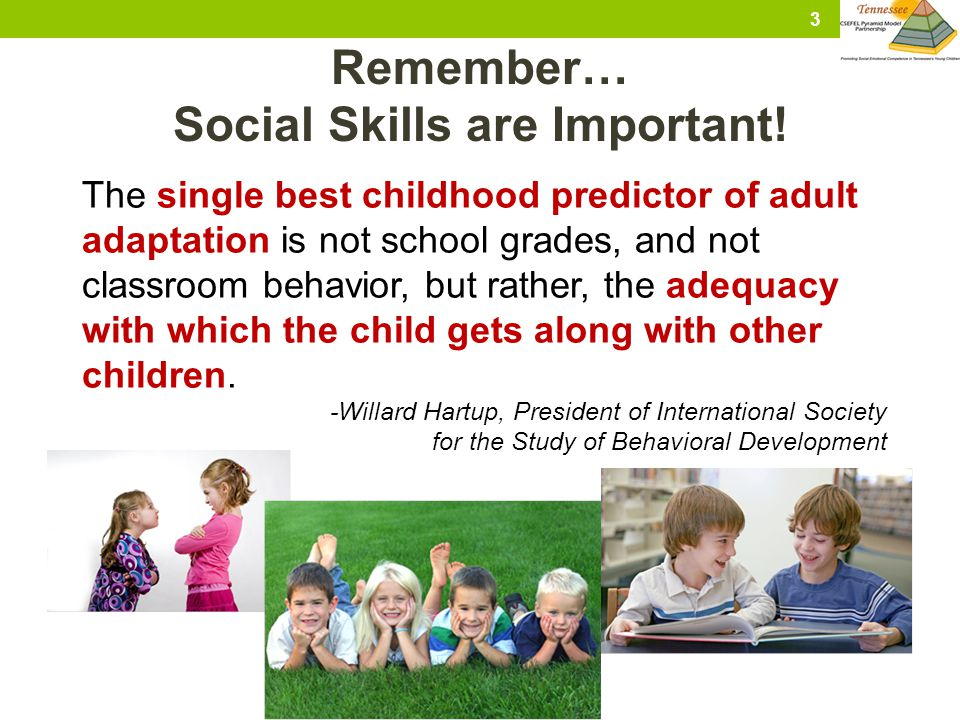 Social Skills are Important!