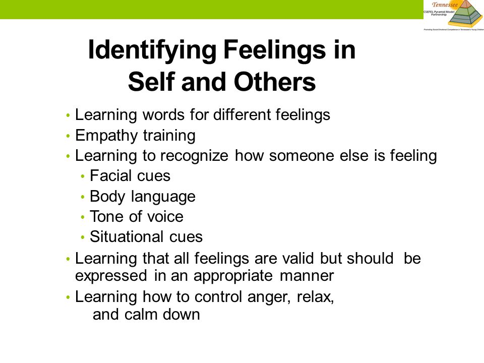 Identifying Feelings in Self and Others