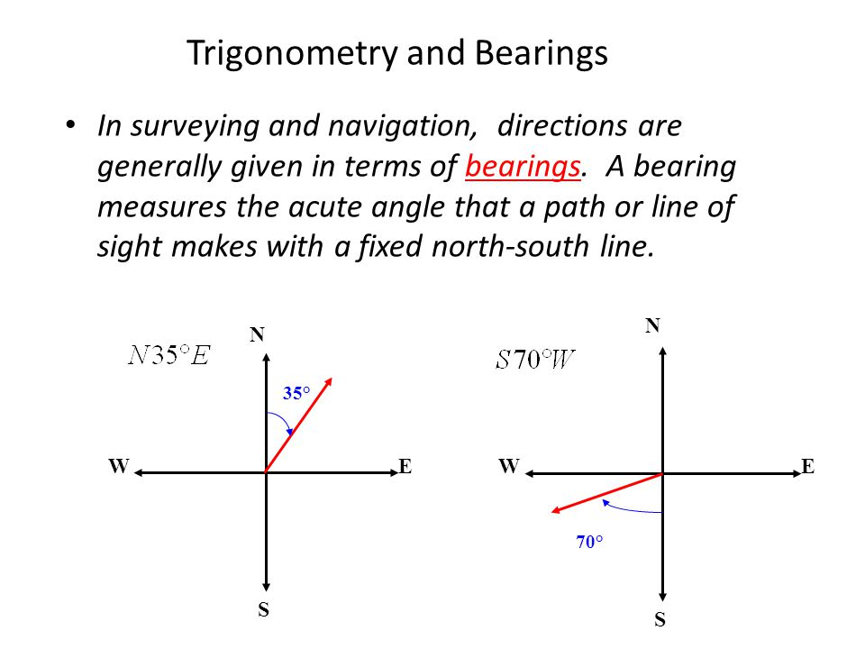 Trigonometry and Bearings