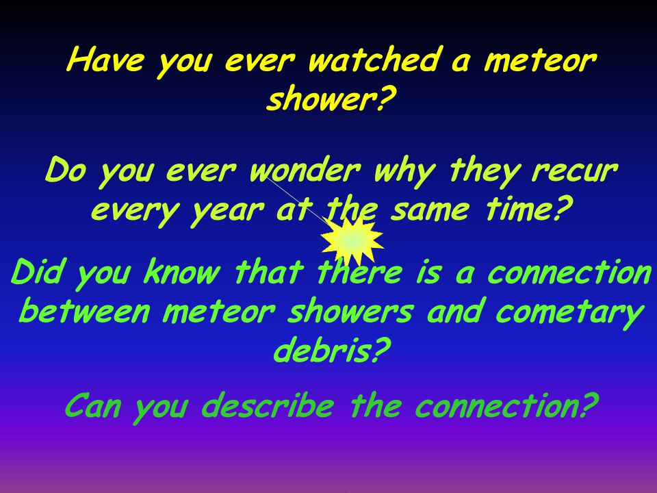 Have you ever watched a meteor shower