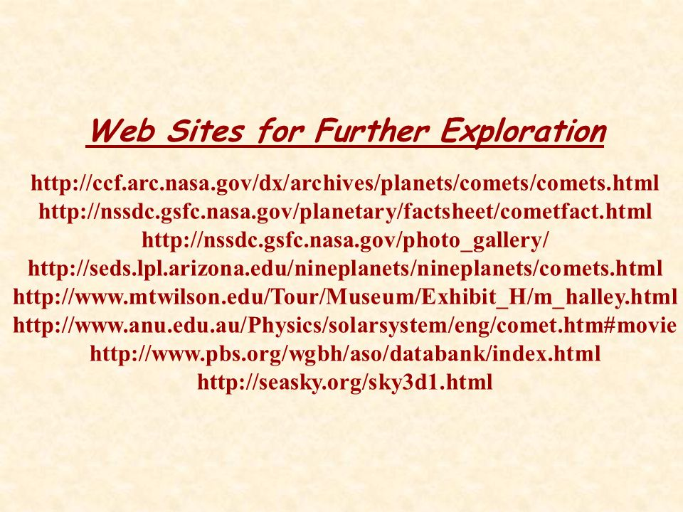 Web Sites for Further Exploration