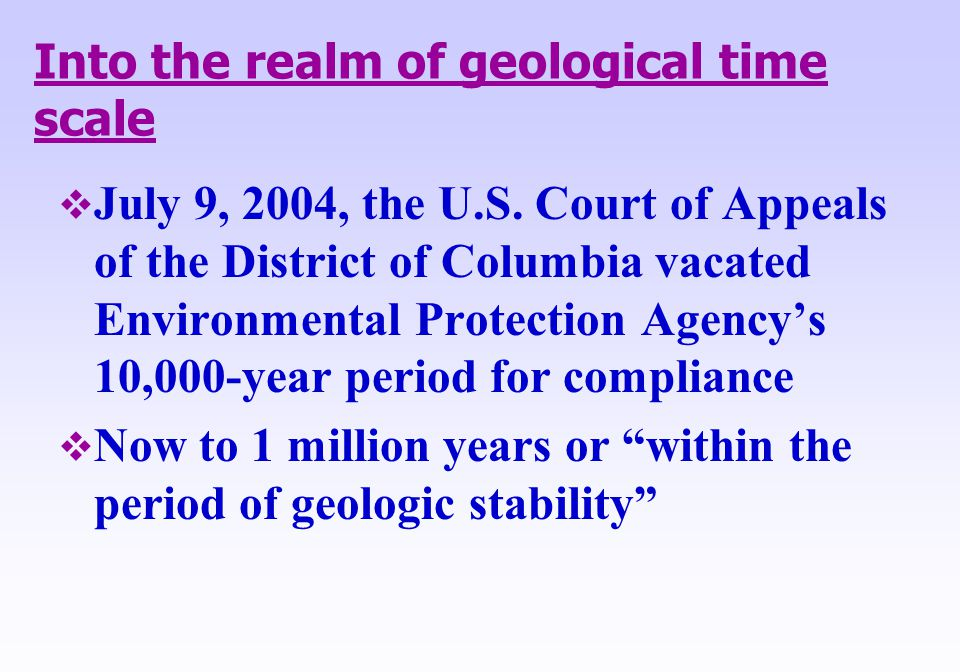 Into the realm of geological time scale