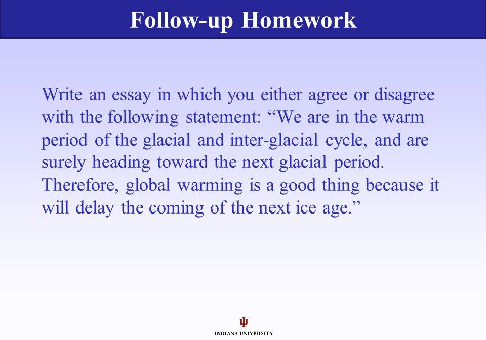 Follow-up Homework