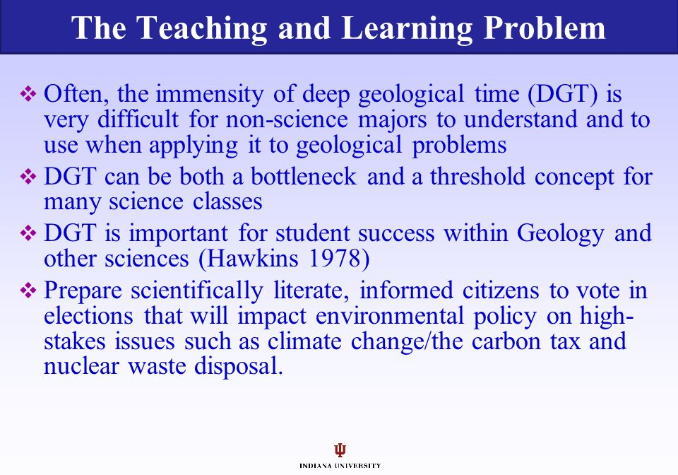 The Teaching and Learning Problem
